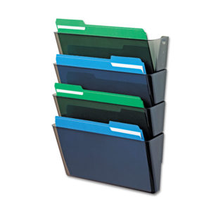 deflecto® DocuPocket® Stackable Four-Pocket Wall File