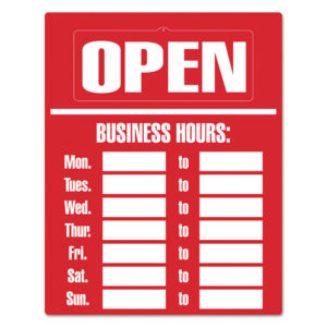 COSCO Business Hours Sign Kit