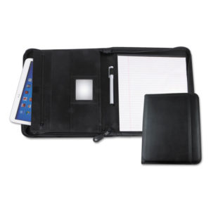 Universal® Leather Textured Zippered PadFolio with Tablet Pocket