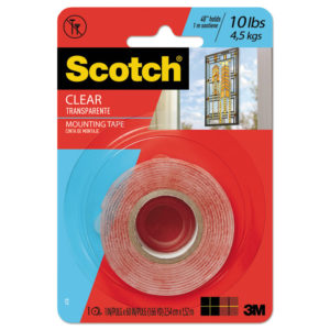 Scotch® Permanent Clear Mounting Tape