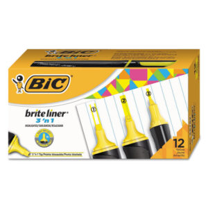 BIC® Brite Liner® 3 'n 1 Highlighters