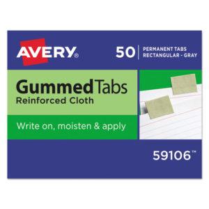 Avery® Gummed Reinforced Index Tabs