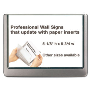 Durable® Click Sign Holder For Interior Walls