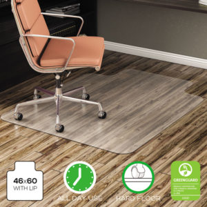deflecto® EconoMat® Non-Studded All Day Use Chair Mat for Hard Floors
