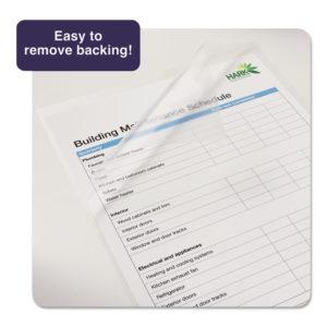 Avery® Clear Self-Adhesive Laminating Sheets
