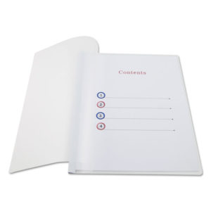 Universal® Clear View Report Cover with Slide-on Binder Bar