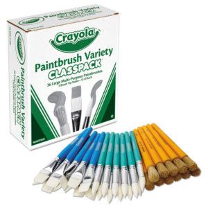 Crayola® Large Variety Paint Brush Classpack