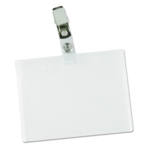 Universal® Clear Badge Holders With Inserts