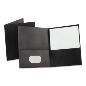 Oxford™ Leatherette Two Pocket Portfolio