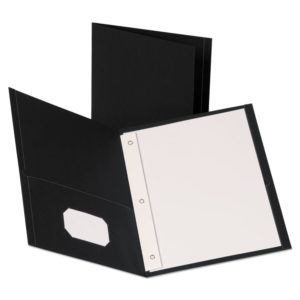Oxford™ Leatherette Two Pocket Portfolio with Fasteners