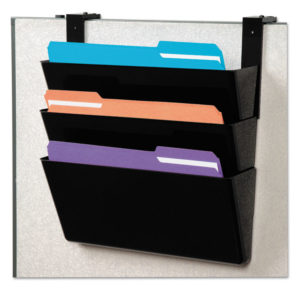 deflecto® DocuPocket® Stackable Three-Pocket Partition Wall File