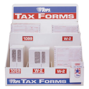 TOPS™ Six-Part W-2 Tax Form Floor Display