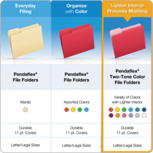 Pendaflex® Double-Ply Reinforced Top Tab Colored File Folders
