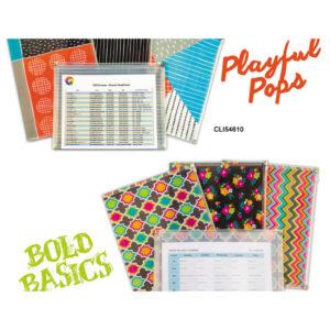 C-Line® Playful Pops and Bold Basics Zip 'N Go™ Reusable Envelope