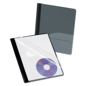 Oxford™ Clear Front Report Cover with Pocket and CD Slot