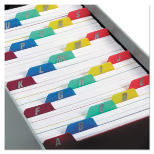 Oxford™ Durable Poly A-Z Card Guides