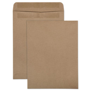 Quality Park™ 100% Recycled Brown Kraft Redi-Seal™ Envelope