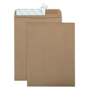 Quality Park™ 100% Recycled Brown Kraft Redi-Strip™ Envelope