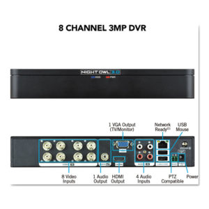 Night Owl 8 Channel Extreme HD 3MP DVR