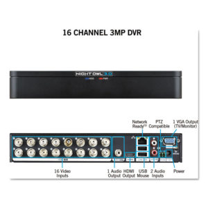 Night Owl 16 Channel Extreme HD 3MP DVR