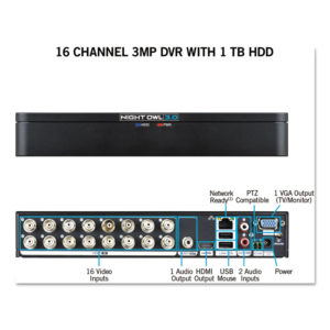 Night Owl 16 Channel Extreme HD 3MP DVR with 1 TB Hard Drive