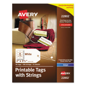 Avery® Printable Tags with Strings
