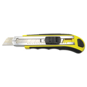 Boardwalk® Rubber-Gripped Retractable Snap Blade Knife