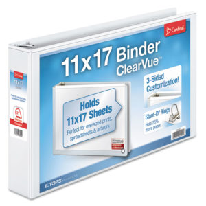 Cardinal® 11 x 17 ClearVue™ Slant-D® Ring Binder