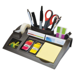 Post-it® Weighted Base Desktop Organizer