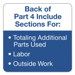 TOPS™ Auto Repair Four-Part Order Form