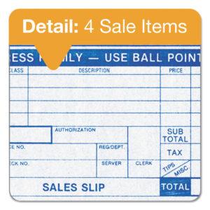 TOPS™ Credit Card Sales Slip