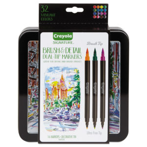 Crayola® Brush & Detail Dual Ended Markers