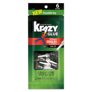 Krazy Glue® All-Purpose Super Glue Single-Use Tubes