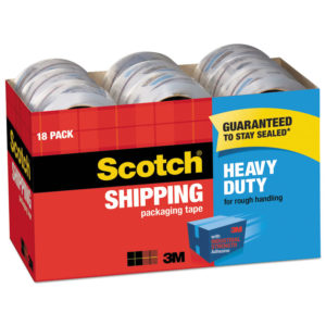 Scotch® 3850 Heavy-Duty Packaging Tape Cabinet Pack