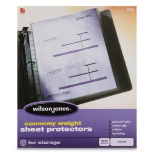 Wilson Jones® Economy Weight Top-Loading Sheet Protectors