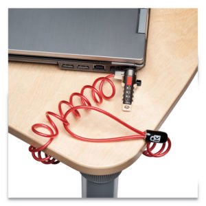 Kensington® Portable Combination Laptop Lock