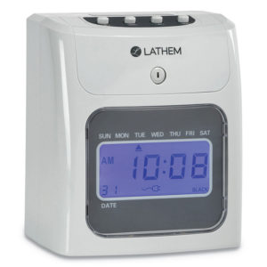 Lathem® Time 400E Top-Feed Time Clock Bundle