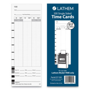 Lathem® Time E17-100 Time Cards