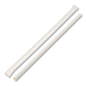 Boardwalk® Individually Wrapped Paper Straws