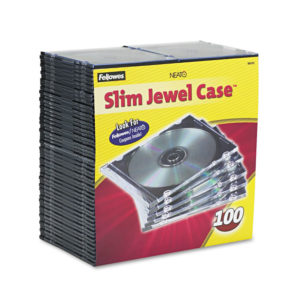 Fellowes® Slim Jewel Cases