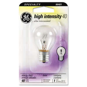 GE Incandescent S11 Appliance Light Bulb