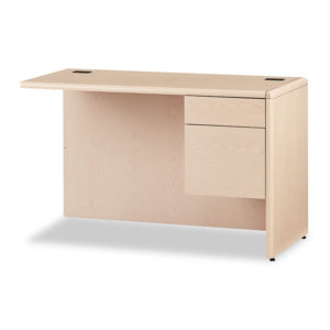"""HON® 10700 Series™ """"L"""" Workstation Return with Three-Quarter Height Pedestal on Right"""
