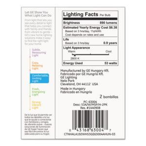 GE Halogen A-Line Bulb