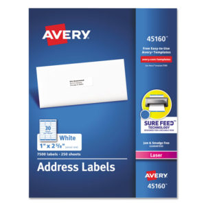 Avery® White Address Labels for Laser Printers