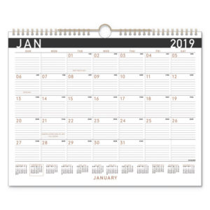 AT-A-GLANCE® Contemporary Medium Monthly Wall Calendar