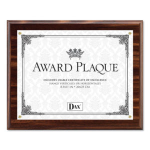 DAX® Award Plaque with Clear Front Cover