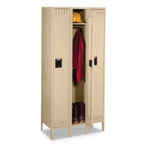 Tennsco Sixteen Box Compartments and Coat Bar