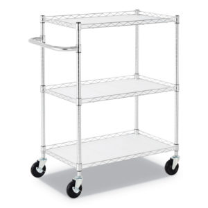 Alera® Three-Shelf Wire Cart with Liners