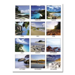 House of Doolittle™ 100% Recycled Earthscapes™ Seascapes Desk Pad Calendar