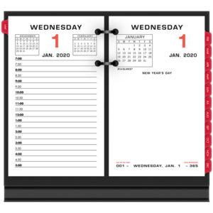 AT-A-GLANCE® Two-Color Desk Calendar Refill
